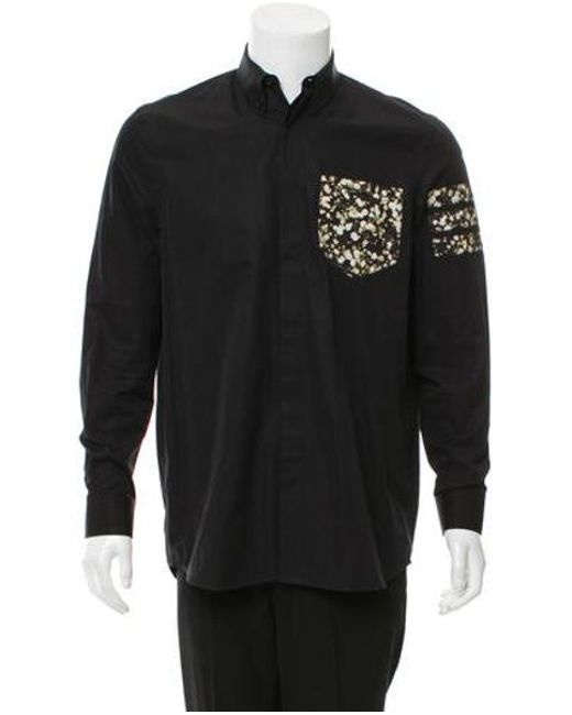 ccc5dc23cc05 Givenchy - Black Long Sleeve Button-up Shirt for Men - Lyst ...