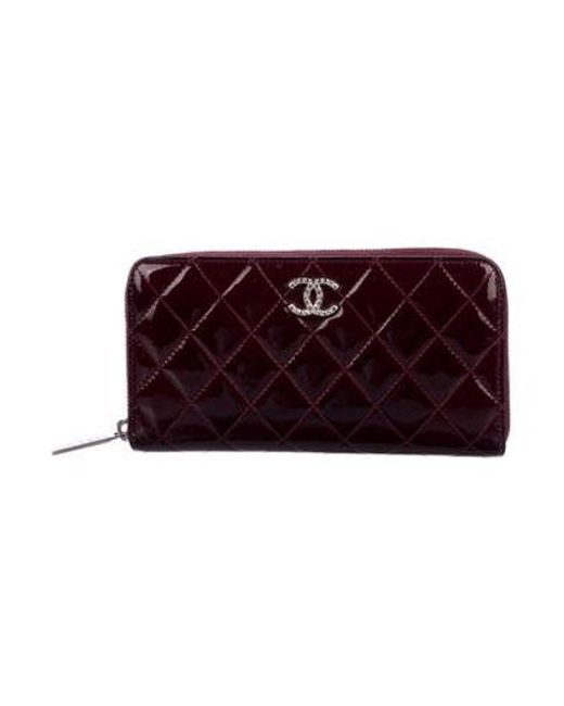 386c7694c21c Chanel - Metallic Brilliant Zip-around Wallet Silver - Lyst ...