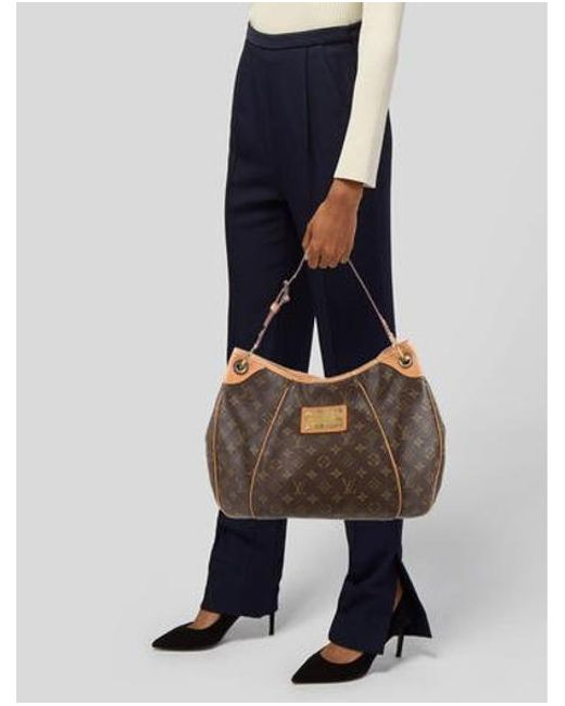 3e2f0c1f00cd ... Louis Vuitton - Natural Monogram Galliera Pm Brown - Lyst ...