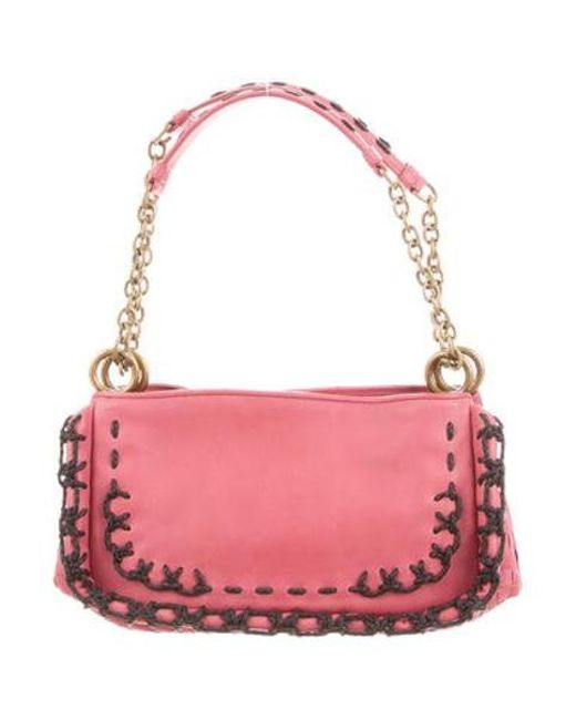 48c3a7ca27 Bottega Veneta - Metallic Leather Shoulder Bag Pink - Lyst ...