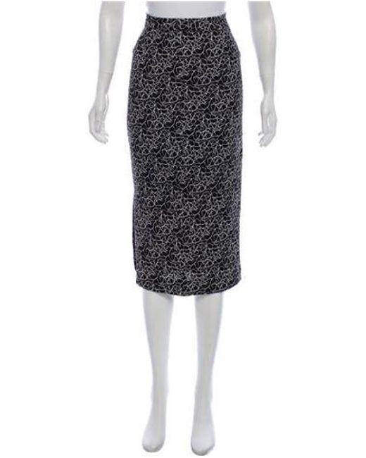 A.L.C. - Black Silk Printed Skirt - Lyst