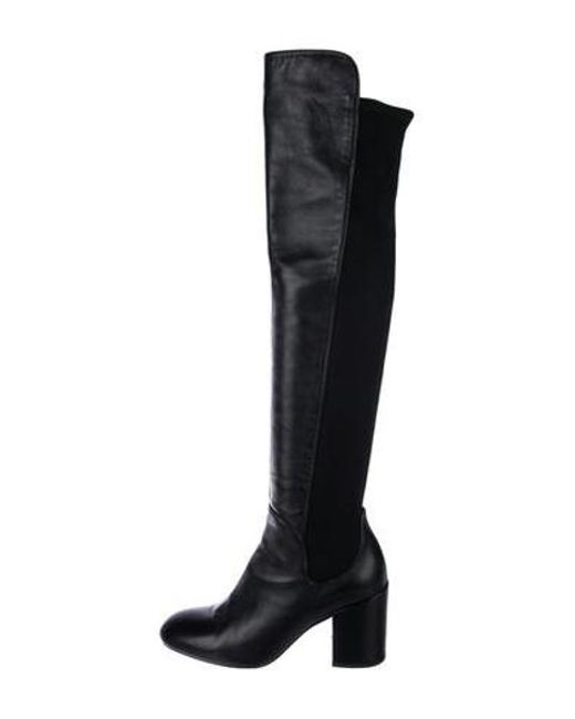 6604d042ff8 Stuart Weitzman - Black Leather Over-the-knee Boots - Lyst ...