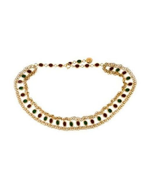 Chanel - Metallic Gripoix Waist Belt Gold - Lyst