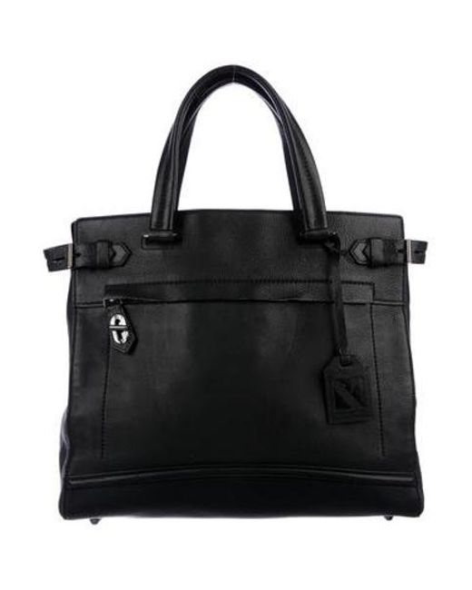 b152cb59fc87 Reed Krakoff - Gray Grained Leather Tote Black - Lyst ...