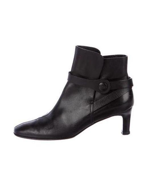 13ebd53221 Ferragamo - Black Leather Ankle Boots - Lyst ...
