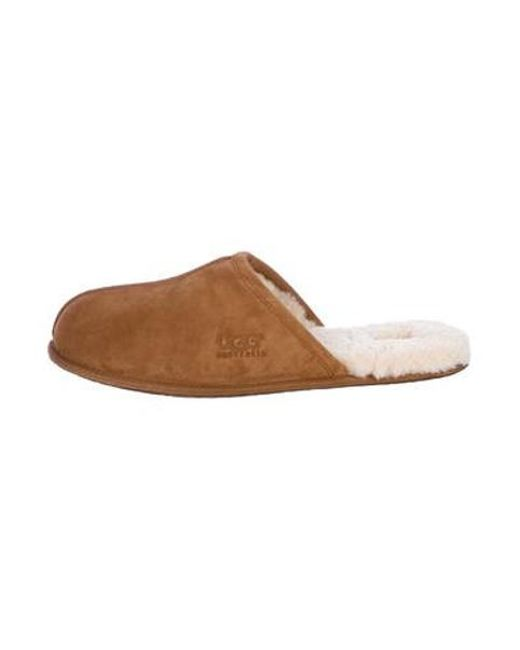 1dfccf493b2e Ugg - Natural Scuff Shearling-lined Slippers Tan for Men - Lyst ...