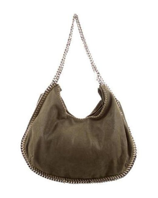 3c92e25d33 Stella McCartney - Green Shaggy Deer Shoulder Bag - Lyst ...