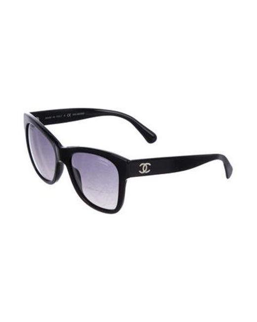 6d03127e028 ... Chanel - Metallic Polarized Cc Sunglasses Black - Lyst ...