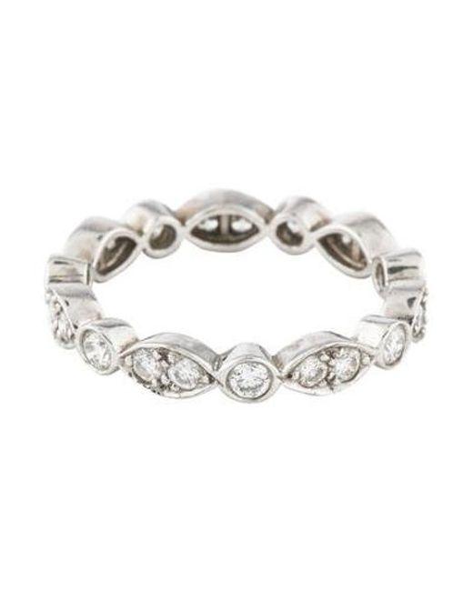 Tiffany & Co - Metallic Platinum Diamond Jazz Ring - Lyst