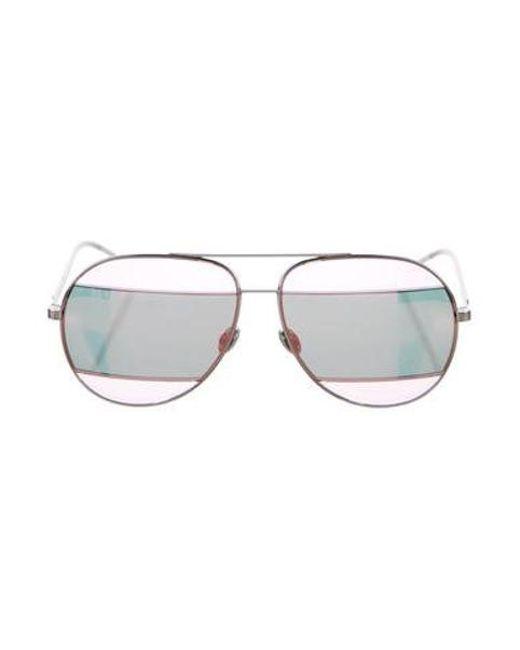 Dior - Pink Split 2 Aviator Sunglasses - Lyst