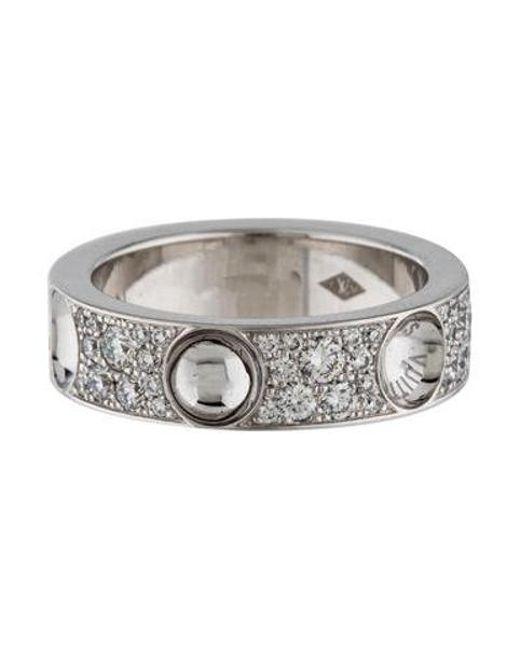 Louis Vuitton - Metallic 18k Diamond Empreinte Ring White - Lyst