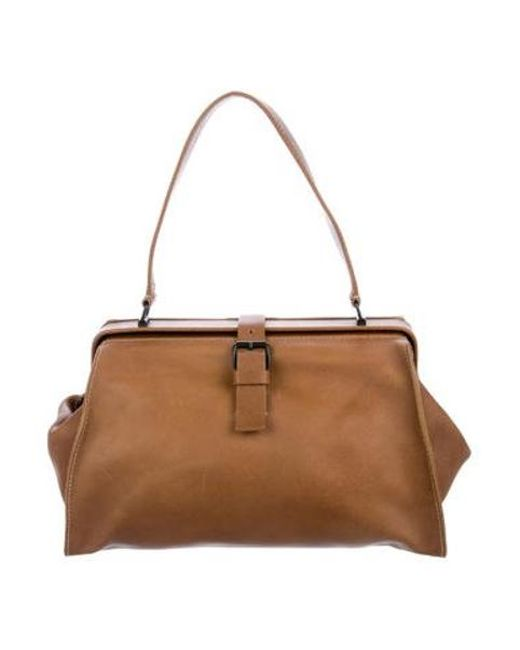 215c9c39ca54 Miu Miu - Brown Miu Distressed Leather Shoulder Bag - Lyst ...