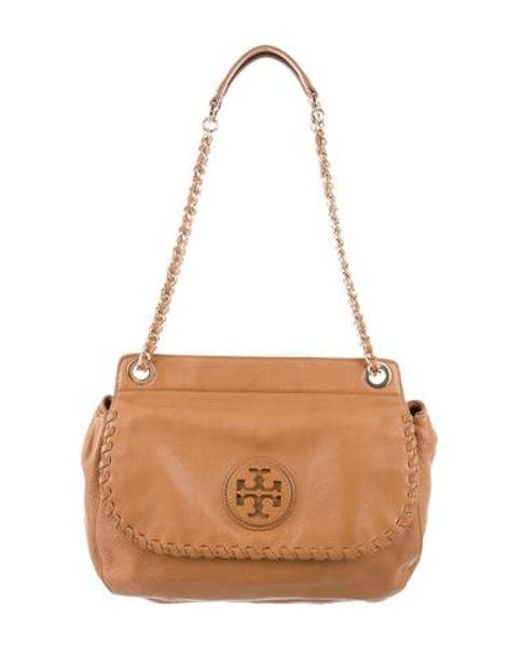 Tory Burch - Metallic Marion Saddle Bag Gold - Lyst