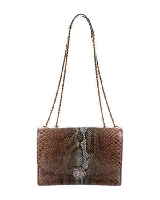 14e87607df1 Marc Jacobs - Metallic Snakeskin Trouble Shoulder Bag Brown - Lyst ...
