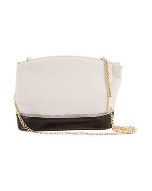... Ferragamo - Metallic Leather Crossbody Bag Black - Lyst 055a2c67a9412