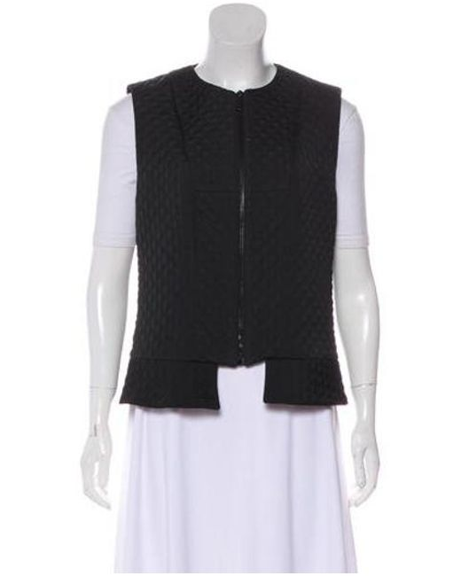 8396b608d6639 Derek Lam - Black Quilted Scoop Neck Vest - Lyst ...