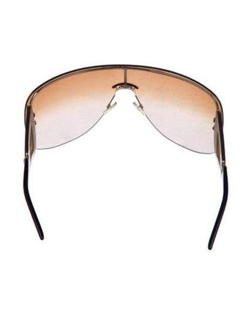 f12364f3312d ... Dior - Metallic Oversize Shield Sunglasses Gold - Lyst ...