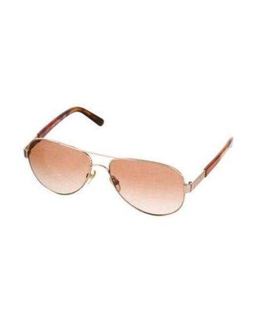 827129c1a0 ... Tory Burch - Metallic Aviator Metal Sunglasses Gold - Lyst ...