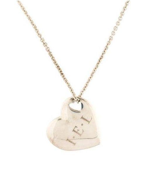 Tiffany & Co - Metallic Heart Cutout Pendant Necklace Silver - Lyst