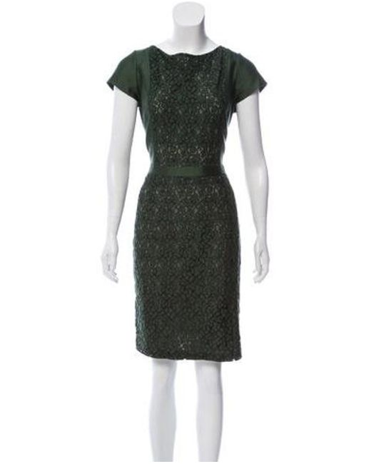 0b3110c5d51 Tory Burch - Green Floral Knee-length Dress Olive - Lyst ...