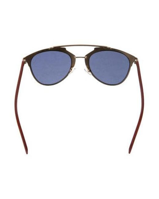 ecb4c89fd0d6 ... Dior - Metallic Reflected P Aviator Sunglasses Gold - Lyst ...