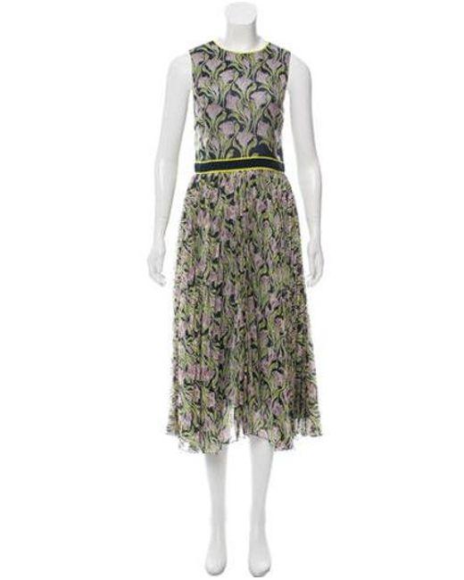Jason Wu Blue Sleeveless Printed Dress Lyst