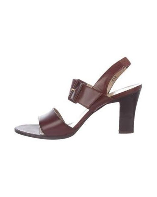 102007936752 Ferragamo - Brown Leather Multistrap Sandals - Lyst ...