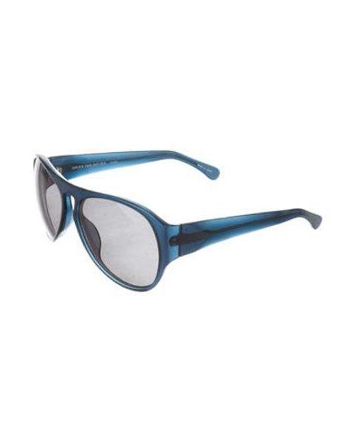 e4b905fd481d ... Linda Farrow - Blue Tinted Oversize Sunglasses - Lyst ...