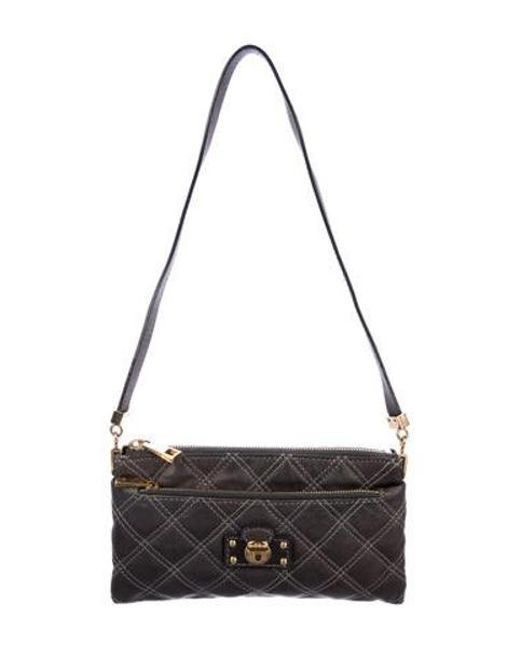 a15ef1ad5dc Marc Jacobs - Metallic Quilted Leather Shoulder Bag Grey - Lyst ...