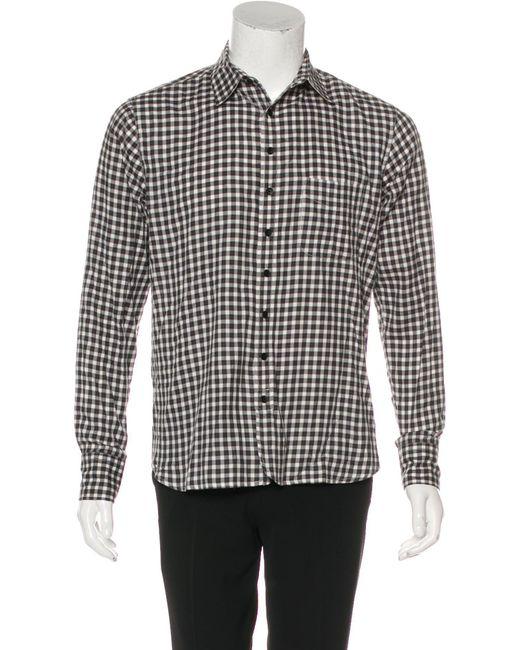 fde2a812cd46 Rag & Bone - Black Plaid Woven Shirt for Men - Lyst ...