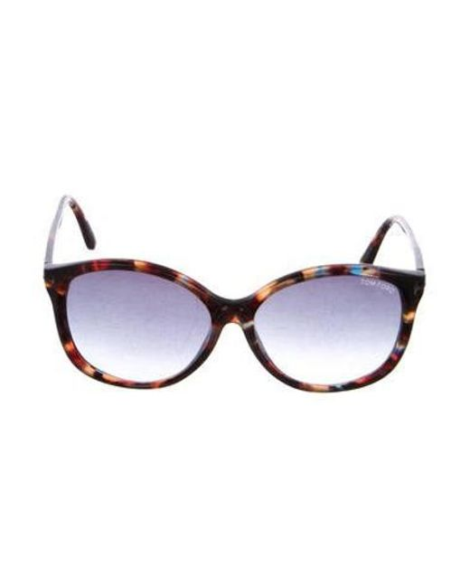 6aafc0adf15 Tom Ford - Brown Alicia Tortoiseshell Sunglasses - Lyst ...