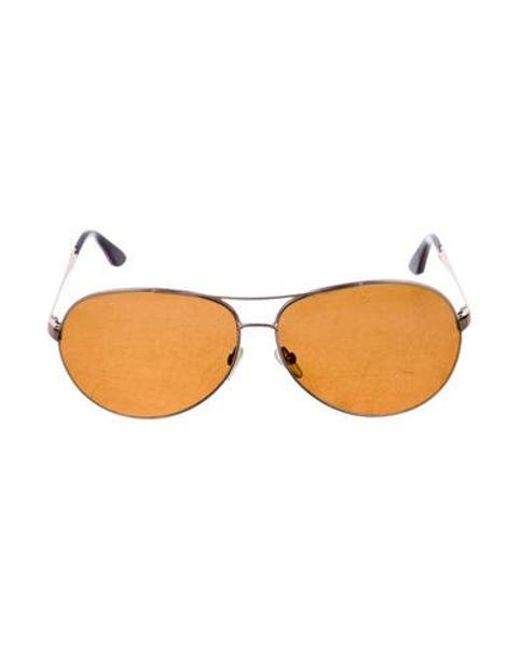 e99989cfd4c Tom Ford - Metallic Ace Gradient Sunglasses Brown - Lyst ...