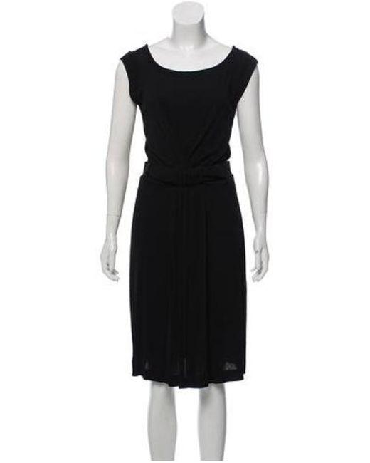 d991bae5fc Piazza Sempione - Black Sleeveless Midi Dress - Lyst ...