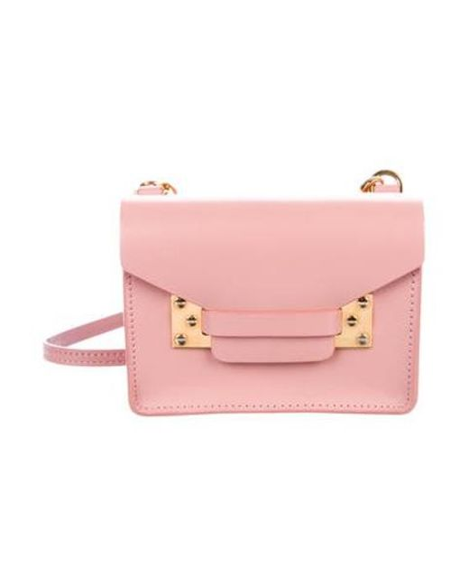 Sophie Hulme - Metallic Mini Milner Crossbody Bag Pink - Lyst