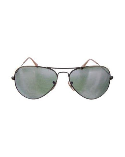 6dc5d707df Ray-Ban - Metallic Tinted Aviator Sunglasses - Lyst ...