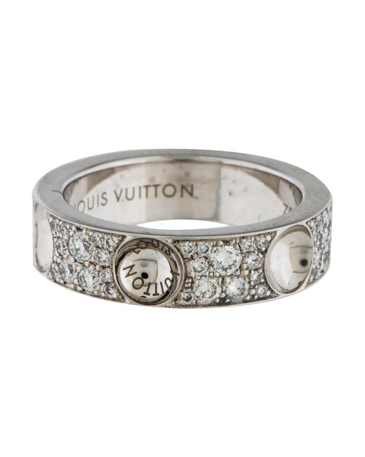 Louis Vuitton - Metallic Diamond Small Empreinte Band White - Lyst