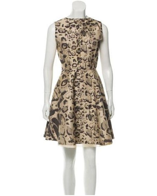 70f5866da2 Giambattista Valli - Natural Sleeveless Patterned Dress Neutrals - Lyst ...