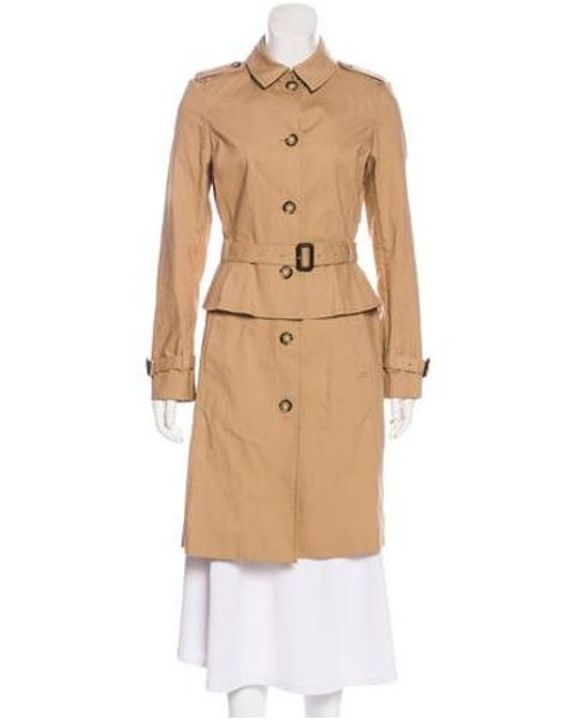 92104d15eca7 Tory Burch - Brown Belted Trench Coat W  Tags - Lyst ...