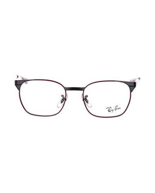 23f30617dbd38 Ray-Ban - Metallic Metal Horn-rimmed Eyeglasses Silver - Lyst ...