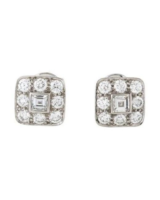 33f8406f3 ... Lyst Tiffany & Co - Metallic Platinum Diamond Earrings ...