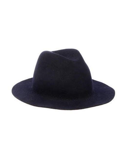 A.P.C. - Black Wool Fedora Hat - Lyst ... 7a5785a980f