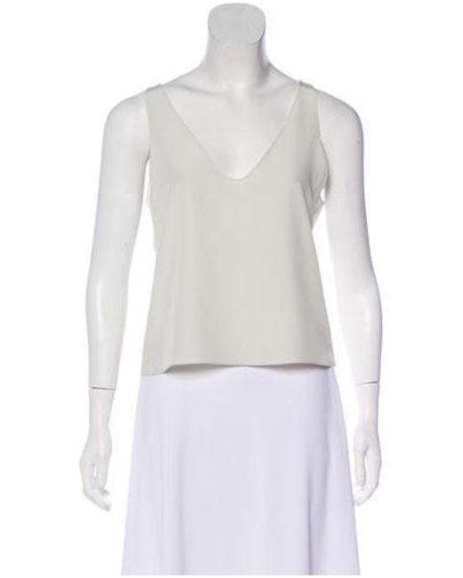 9c35595d408f4 Diane von Furstenberg - White Silk Cropped Top - Lyst ...