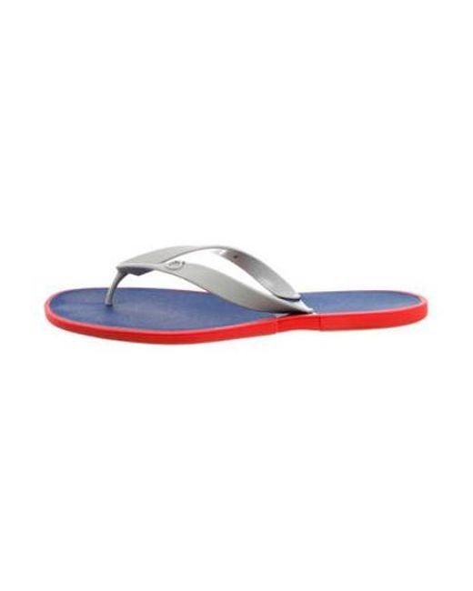 bd4d139dcde7 Ferragamo - Blue Gancini Rubber Flip Flops Orange for Men - Lyst ...