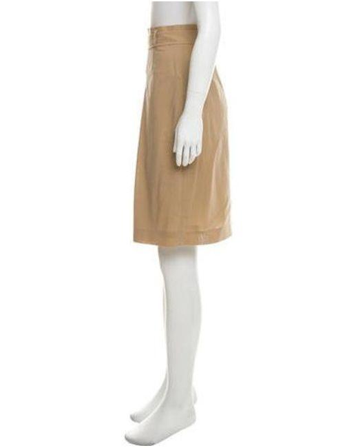 60160ef6b ... Akris Punto - Natural Wool Knee-length Skirt Khaki - Lyst ...