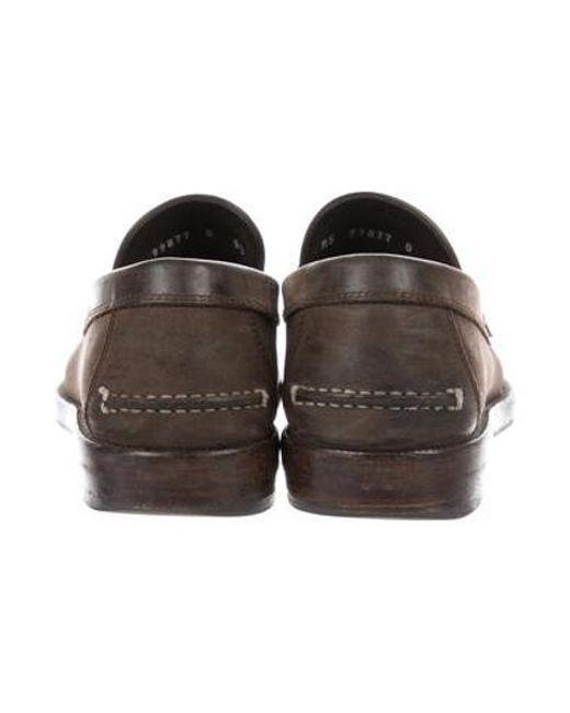 0184384376b ... Ferragamo - Brown Suede Penny Loafers for Men - Lyst