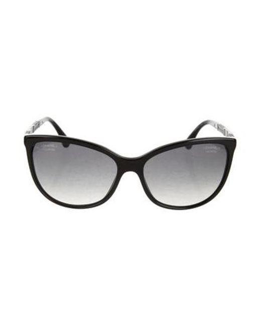 3e641cbc1b6 Chanel - Metallic Butterfly Summer Sunglasses Black - Lyst ...