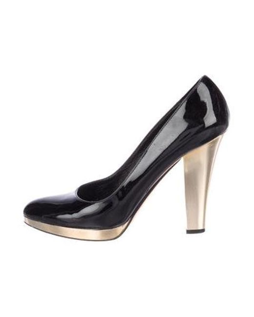 0e9c6df6dc9 Michael Kors - Black Patent Leather Round-toe Pumps - Lyst ...