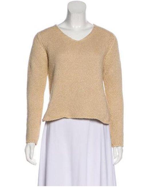6c8b1ae1580e Lyst - Loro Piana Knit V-neck Sweater Tan in Natural