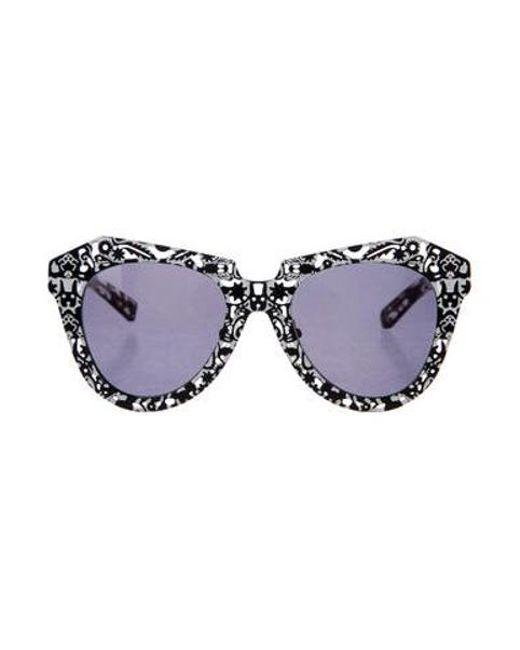 5993e8022ac5 Karen Walker - Black Super Power Tinted Sunglasses - Lyst ...