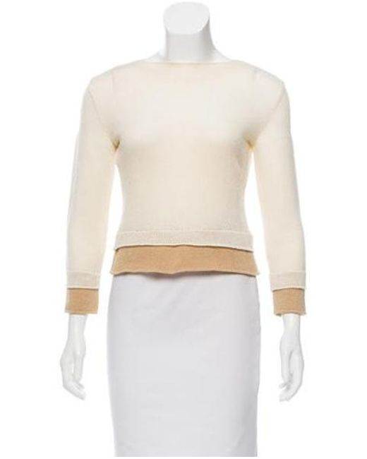 0712c401f8 Narciso Rodriguez - White Knit Sweater - Lyst ...